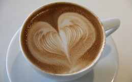 Heart and coffee